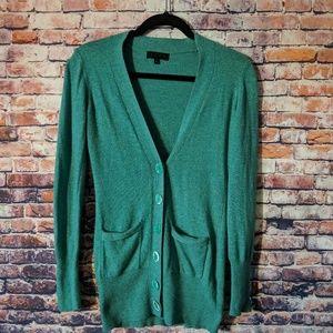 TCEC green cardigan M long sleeve
